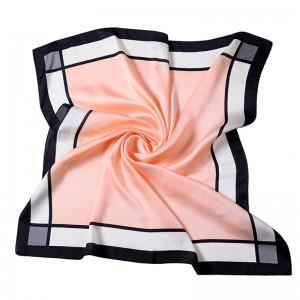 WENZHE New Style Women Simple Square Scarf 70*70 Printed Turkish Silk Twill Scarf Neckerchiefs