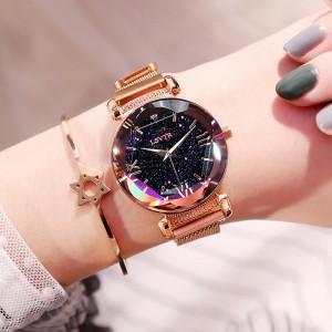 Women's Star Quartz Watch Lazy Watch Magnet Watch Strap Watch