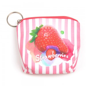 WENZHE Cute Girls Pink Strawberry Pattern Coin Purses