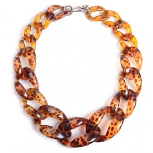 Hot Sale Handmade Jewelry Big Acrylic Chain Women Choker Statement Necklace