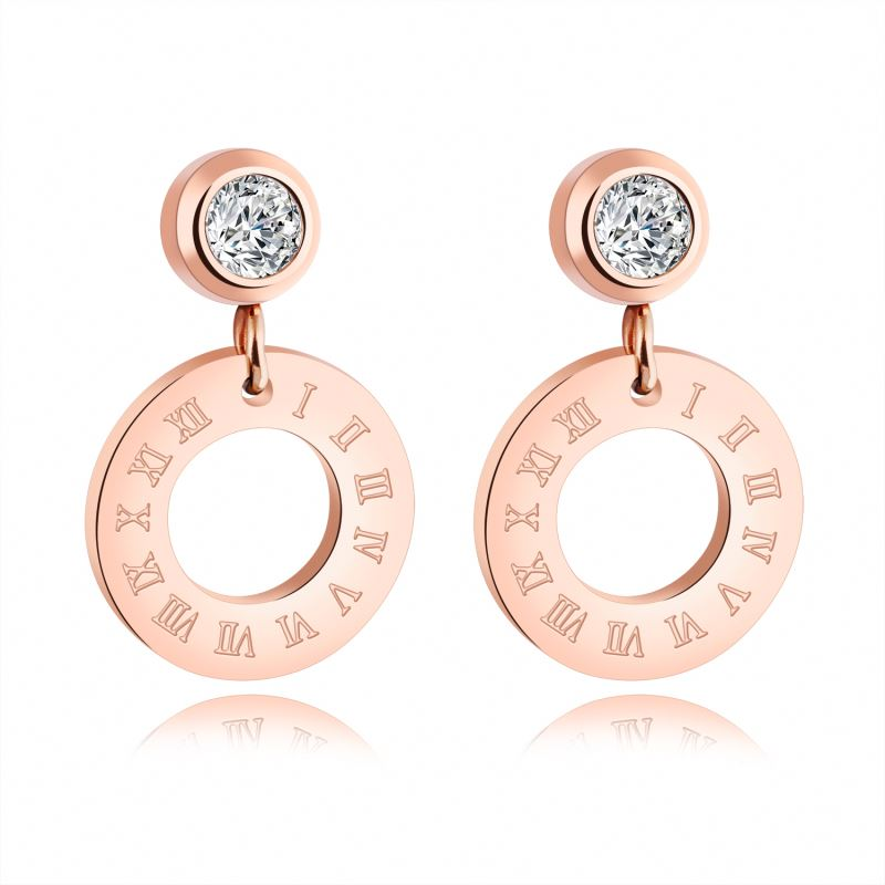 Latest Personalized Roman Numeral Circle Custom Earrings Featured Image