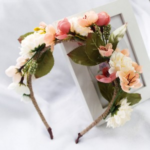 2019 Newest Design Handmade Festival Emulational Flower Hair Bands For Bride