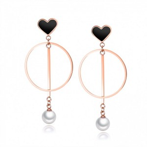 Classical Circle Love Pearl Glamorous Earrings