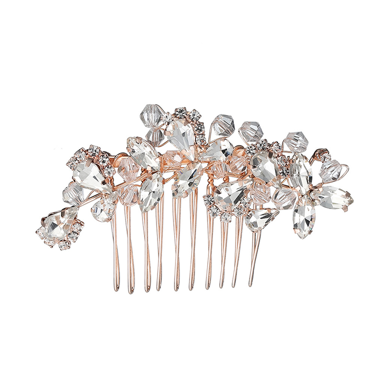 WENZHE wholesale crystal hair accessory flower hair accessories rhinestone wedding hair comb Featured Image