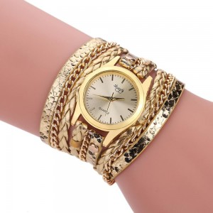 Wholesale Women Fashion Watch Long Leather Strap Women Bracelet Quartz Retro Wrist Watches