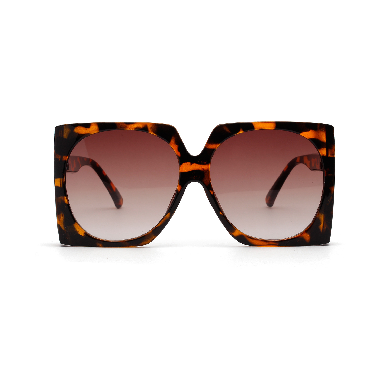 WENZHE New Arrival Fashion Square Shaped Frames Oversized Leopard Women Sunglasses Featured Image