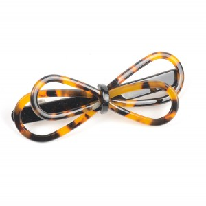 WENZHE Latest Hair Clip Slippy Acetate Bowknot Metal Hair Stick Barrettes For Girls