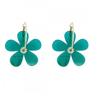 Spring and summer acrylic flower earrings colorful fashion temperament earrings for women
