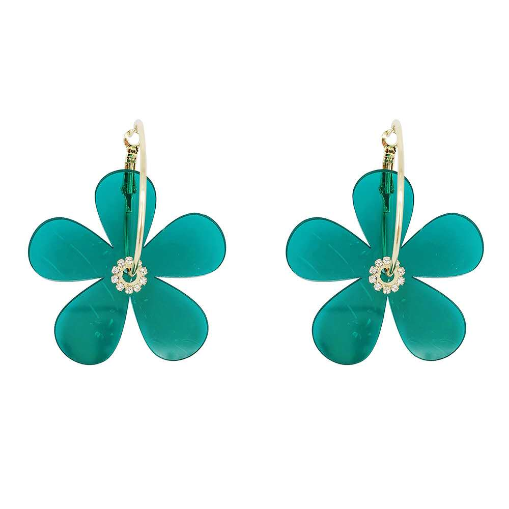 Spring and summer acrylic flower earrings colorful fashion temperament earrings for women Featured Image