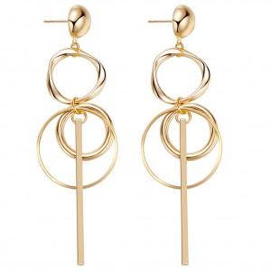 New golden earring designs for women,round hoop earring